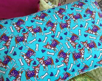 Chihuahua Snuggle Pillow Bed with Minky