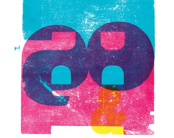 R&B A3 poster-print poster in cyan, magenta and yellow