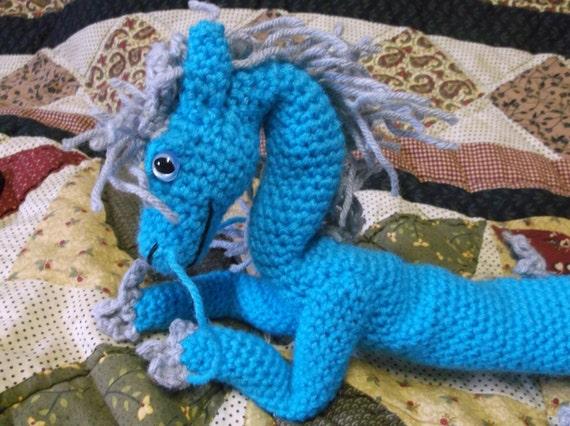 Amigurumi Chinese Dragon : Blue chinese dragon amigurumi crochet chinese dragon crochet