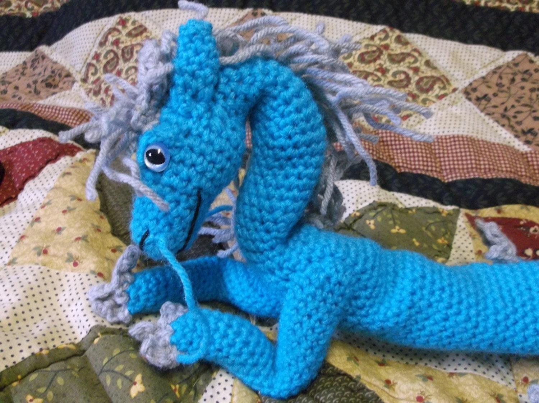 Chinese Dragon Amigurumi Pattern : Blue chinese dragon amigurumi crochet