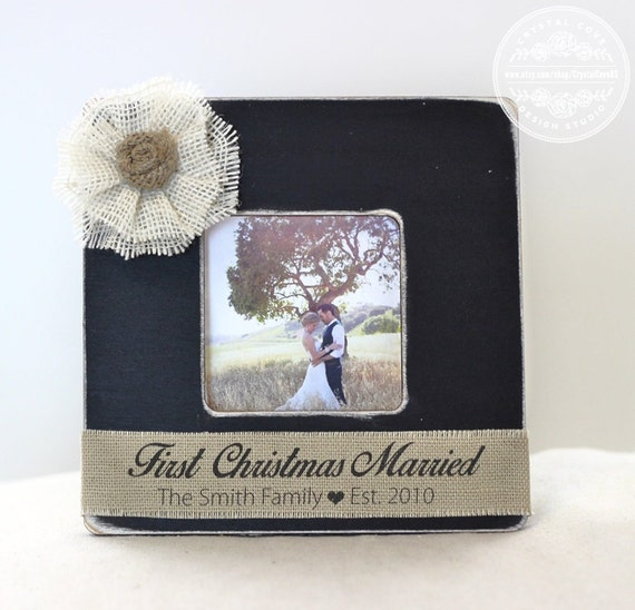 Gifts For Newly Weds: First Christmas Married Newlywed GIFT Wedding Personalized