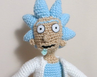 Rick of Rick and Morty Inspired Crochet - Made to Order