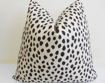 Dalmatian Decorative Pillow Cover in Ink - Accent Cushion- Sofa Pillow - Toss Pillow -