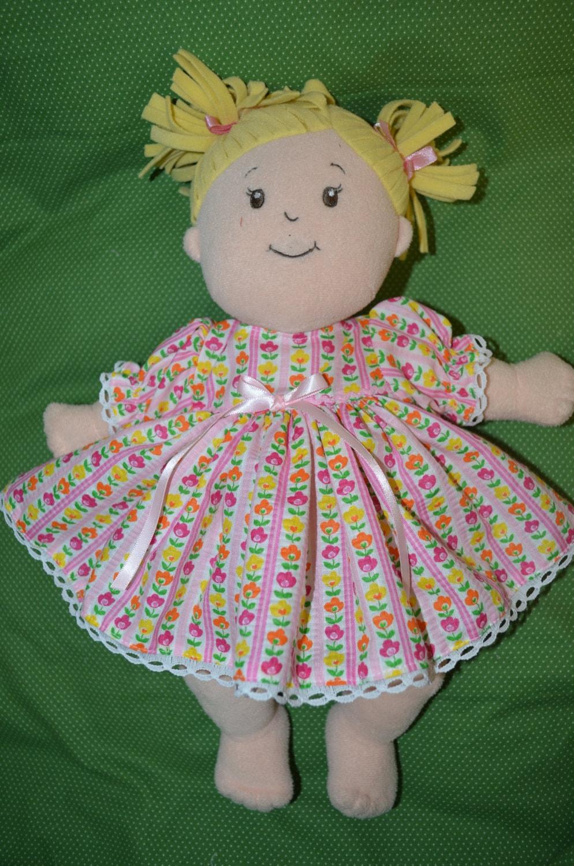 Baby Stella doll clothes seersucker flowers dress