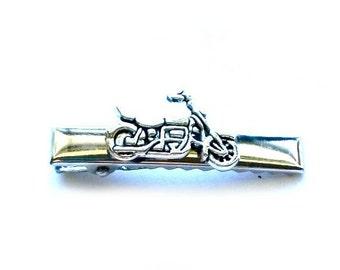 Motorcycle Tie Clip Biker Men's Tie Bar Handmade Gift