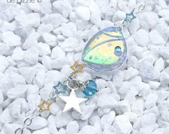 """Starry Fairy"""" Bracelet, Wing 1 Silver / Coppery Blue"""