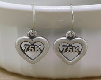 Ultra Jewelry, Ultra Earrings, Earrings, Run Earrings, Running Jewelry, Running Earrings, 75K Trail Race, 75k Ultra Race, Runner Earrings
