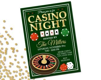 Casino Party Invitation - Casino Night - Casino Invite - Printable