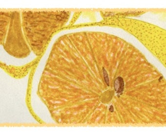 NEW! Detail of GOLDEN LEMON. Colorful and hand drawn notecard