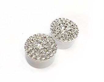 Diamante Cluster Ear Plugs