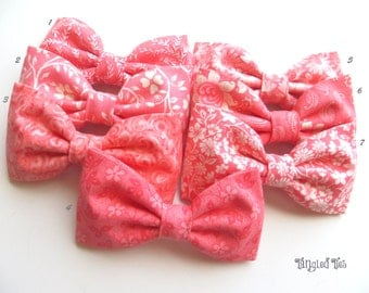 Pink Coral Mismatched Bow Tie Pink Coral Wedding Bow Ties Coral Bow Ties Mix and Match Bow Ties For Weddings