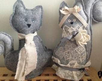 Felt padded Cats Just Married