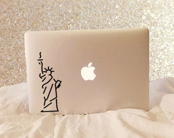 Statue Of Liberty Decal - New York City Decal - NYC - Vinyl Decal - Laptop Decal - Laptop Sticker - Macbook Decal - Macbook Sticker - USA