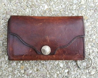 Brown Hand Tooled Leather  Wallet