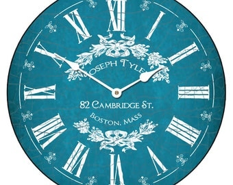 Charmant Blue Wall Clock