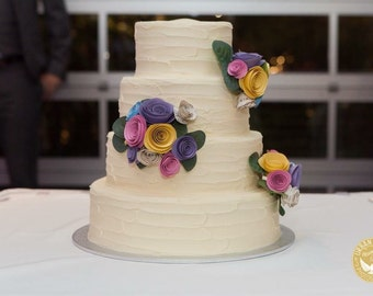 CUSTOM Paper Flower Cake Toppers