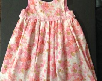 Girls FLORAL SUMMER DRESS, girl clothing, photo prop, girls summer dresses