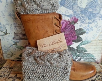 Only for a few days Cable Knitted Boot Cuffs Boot toppers, Boot socks - leg warmers