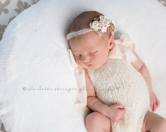 Newborn props - Newborn romper - Baby girl props - Photo props - Newborn girl - Baby photo prop - Newborn baby photo - Cream - Baby girl