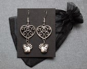 Legend of Zelda earrings – Skyward Sword heart container and cucco / Link chickens – cosplay