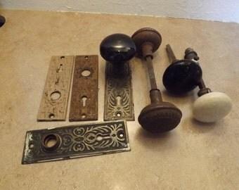 Lot of Antique Door Knobs and Hardware