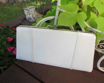 Vintage HL White Purse Clutch