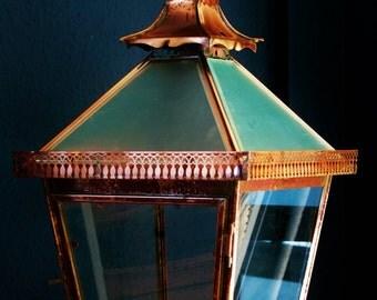 Antique copper lanterns lighting