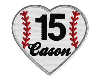 Baseball embroidery design, Baseball heart applique, monogram frame, 3 size applique, no fonts or numbers included, sports embroidery