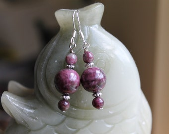 Cute Small Tourmaline Earrings, sterling silver hook