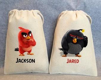 "8- Angry Birds, Angry Birds Party, Angry Birds Birthday,Angry Birds party favor, Angry Birds bags, Angry birds party favor bags, 4""x6"""