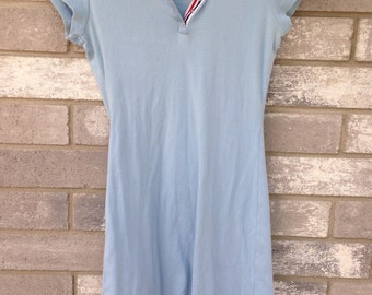 baby blue tommy girl jeans collar dress