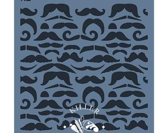 "Mustaches 5.5"" x 5.5"" Stencil"