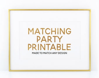 Matching Party Printable