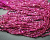 13 Inch Strand,Super Finest,Dark Pink RAINBOW Moonstone Faceted Rondelles,2.75-3mm Size,