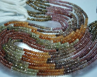 14 Inch Full Strand,Multi TUNDRA SAPPHIRE Faceted Rondelles Beads,Size 3.5mm aprx