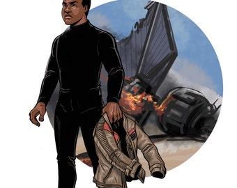 Star Wars Finn Print of Original Artwork