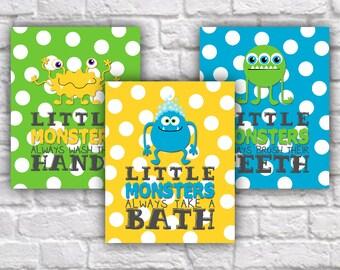 Yellow Bathroom Signs cute bathroom decor | etsy