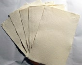 "5-Pack Hand Made Creme Cotton Paper, 5.5"" x 8.5"", Heavy weight"