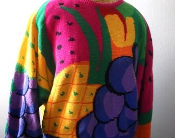 Fun Fruit Sweater // Size Small