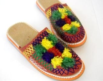 Folk Style Slippers