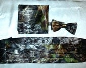 Mossy Oak® New Break Up Satin Cummerbund or Set with Bow Tie and pocket square