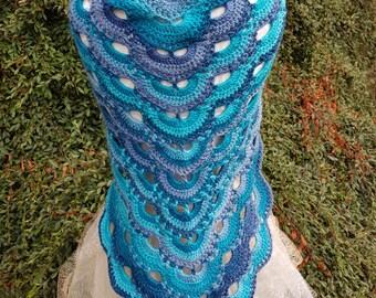 Handmade Crochet Virus Shawl/Scarf