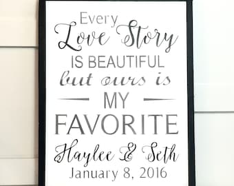 Every Love Story Is Beautiful Sign
