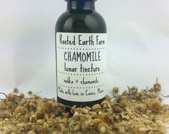 Organic Chamomile Tincture - Herbal Tincture - Calming Tincture - Calming Herbs - Herbs for Sleep - Insomnia Remedy - Stress Relief
