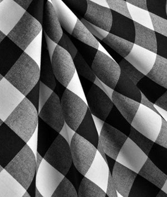 Black And White Buffalo Checked Curtains By Luxurylinenloft
