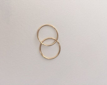 Size 4- Two 14K gold bands