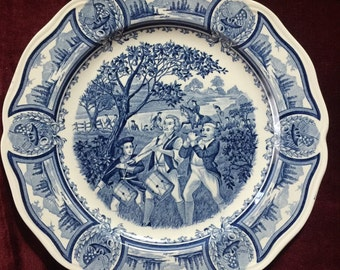 Country American Heritage Royal Staffordshire Toile Plate