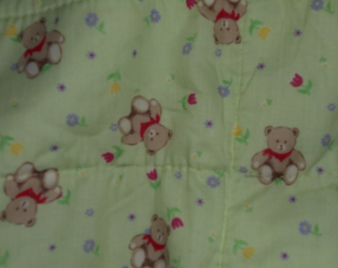 Baby Ted Bear Quilt, Nautical Baby Quilt, Baby Quilt or Baby Gift