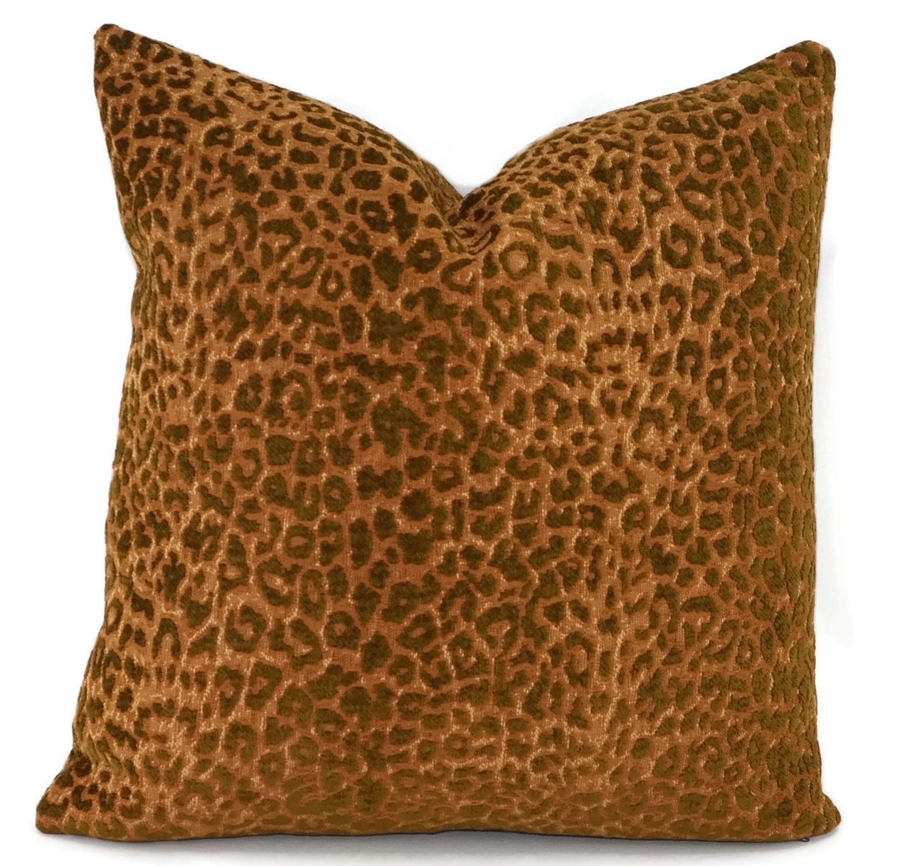Gold Brown Throw Pillows : Brown & Gold Chenille Animal Throw Pillow Cover 16x16 Throw