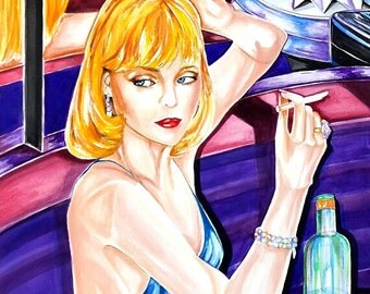 """Michelle Pfeiffer II from Scarface. It's A Watercolor  22 x 30 """""""
